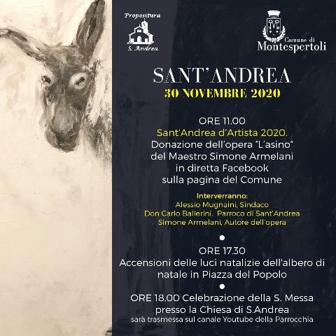 Sant'Andrea 2020: la cerimonia del Sant'Andrea d'Artista sarà online