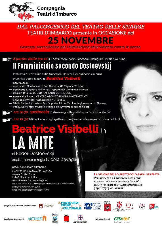 La Mite di Fedor Dostoevskij con Beatrice Visibelli lo spettacolo in streaming