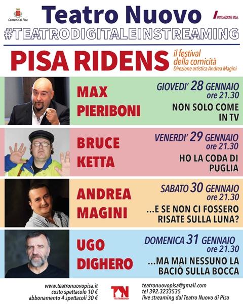 Pisa Ridens, una rassegna di teatro comico e stand up comedy