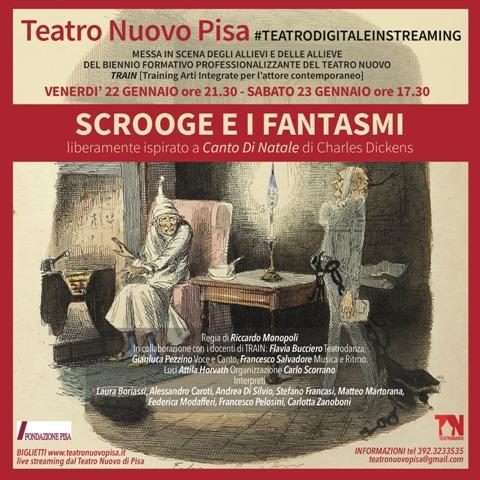 Scrooge e i fantasmi in scena l'alta formazione del Teatro Nuovo