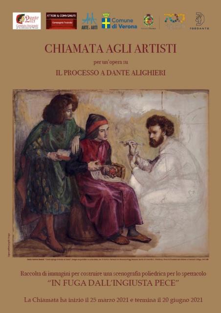 Chiamata agli Artisti, bando per la realizzazione di opere inedite sul tema Il processo a Dante Alighieri