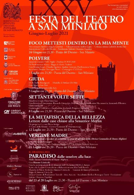 Festa del Teatro LXXV edizione a San Miniato