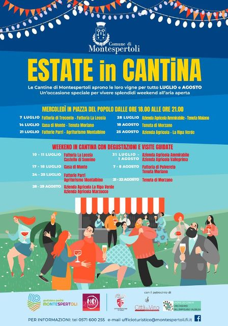Estate in Cantina dal 7 luglio al 29 agosto a Montespertoli