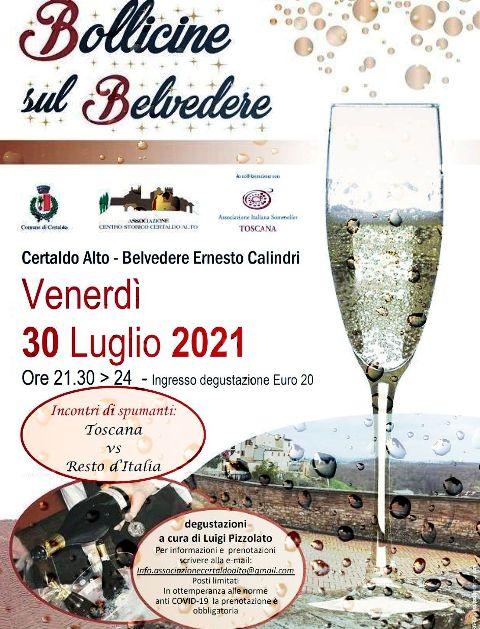 Calici, etichette e paesaggio mozzafiato: a Certaldo alto torna Bollicine sul Belvedere