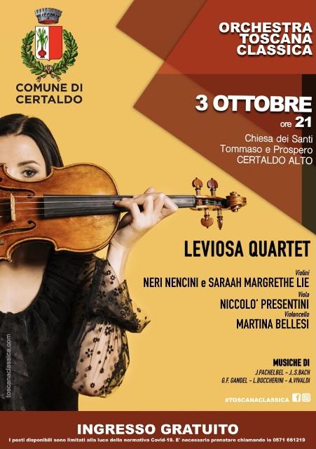 Leviosa Quartet in concerto, la musica invade la chiesa dei santi Tommaso e Prospero
