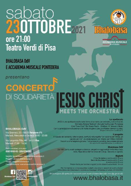 Jesus Christ meets the orchestra il concerto di solidarietà al Teatro Verdi di Pisa
